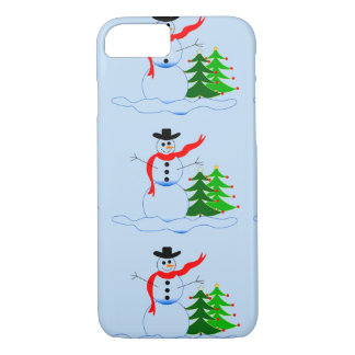 Capa iPhone 8/7 Boneco de neve do feriado no caso do iPhone 7
