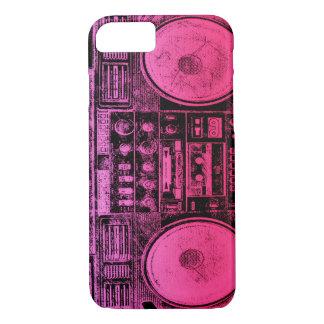 Capa iPhone 8/7 Boombox cor-de-rosa