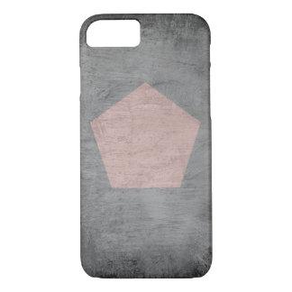 Capa iPhone 8/7 Borrão do carvão vegetal com Pentágono cor-de-rosa