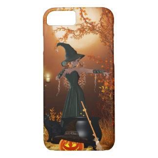 Capa iPhone 8/7 Bruxa do Dia das Bruxas do outono