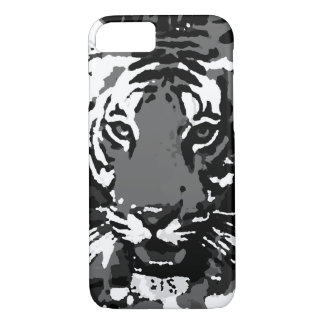 Capa iPhone 8/7 Caixa branca preta do iPhone 6 do tigre do pop art