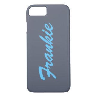 Capa iPhone 8/7 Caixa conhecida cinzenta e azul do iPhone 7 do