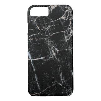 Capa iPhone 8/7 Caixa de mármore preta elegante do iPhone 7 mal lá