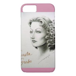 Capa iPhone 8/7 Caixa do telemóvel com retrato de Greta Garbo
