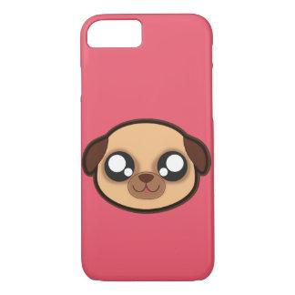 Capa iPhone 8/7 Caixa engraçada da maçã do cão de Kawaii para