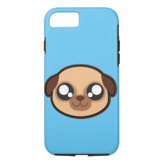 Capa iPhone 8/7 Caixa engraçada da maçã do cão de Kawaii para o