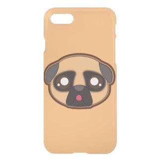 Capa iPhone 8/7 Caixa engraçada do pug de Kawaii para o iphone da