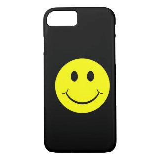 Capa iPhone 8/7 Caixa feliz amarela do iPhone 7 do smiley face do