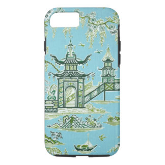Capa iPhone 8/7 Caixa oriental azul e branca do iPhone 7 do design