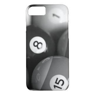 Capa iPhone 8/7 Caixa preto e branco do iPhone 7 dos bilhar