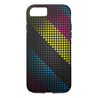 Capa iPhone 8/7 Caixa resistente manchada multicolorido moderna -