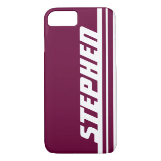 Capa iPhone 8/7 Caixa roxa & branca conhecida do iphone 5 do