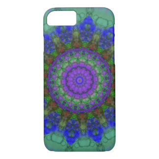 Capa iPhone 8/7 Caixa roxa do iPhone 7 da mandala da fantasia