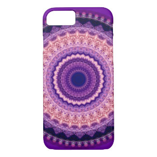 Capa iPhone 8/7 Caixa roxa do iPhone 7 da mandala do paraíso