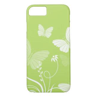 Capa iPhone 8/7 Caixa verde do iPhone 7 das borboletas