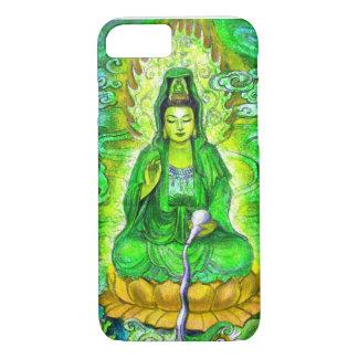 Capa iPhone 8/7 Caixa verde do iPhone 7 de Kuan Yin da deusa do