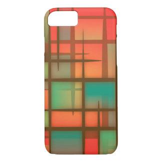 Capa iPhone 8/7 Caixa vermelha da arte abstracta