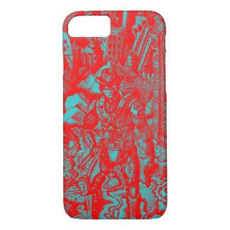 Capa iPhone 8/7 Caixa vermelha do iPhone 7 do vaqueiro