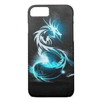 Capa iPhone 8/7 caixas de cristal azuis legal do dragão