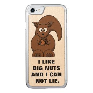 Capa iPhone 8/ 7 Carved Citações engraçadas do esquilo: Eu gosto dos