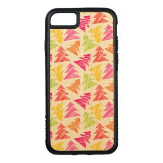 Capa iPhone 8/ 7 Carved Teste padrão esboçado colorido das árvores de