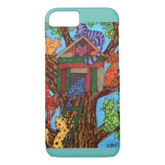 Capa iPhone 8/7 Casa na árvore do gato