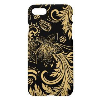 Capa iPhone 8/7 Caso à moda do preto e do ouro