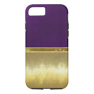 Capa iPhone 8/7 Caso bonito do design do ouro da faísca
