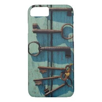 Capa iPhone 8/7 Caso: Chaves de esqueleto velhas