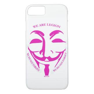 Capa iPhone 8/7 Caso cor-de-rosa de Iphon 7 com decoração anónima
