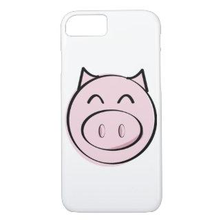 Capa iPhone 8/7 Caso cor-de-rosa do iPhone 6 do porco