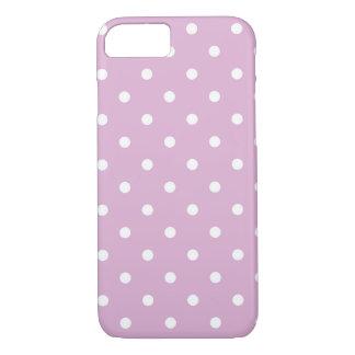Capa iPhone 8/7 Caso cor-de-rosa do iPhone 7 das bolinhas do
