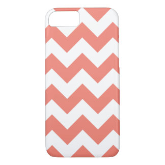 Capa iPhone 8/7 Caso coral do iPhone 7 do ziguezague de Chevron