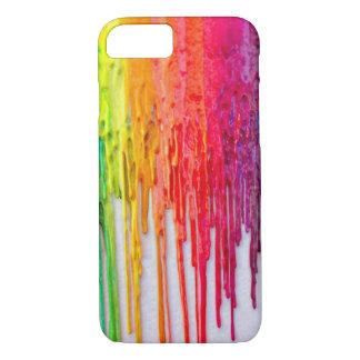 Capa iPhone 8/7 caso de derretimento do iPhone 7 do arco-íris do