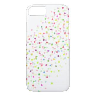 Capa iPhone 8/7 Caso diagonal do iPhone 7 dos confetes