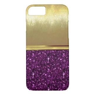 Capa iPhone 8/7 Caso do design do ouro do iPhone 6 dos Sparkles