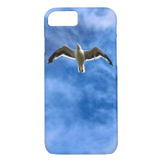 Capa iPhone 8/7 Caso do iPhone 6 do céu azul & da gaivota