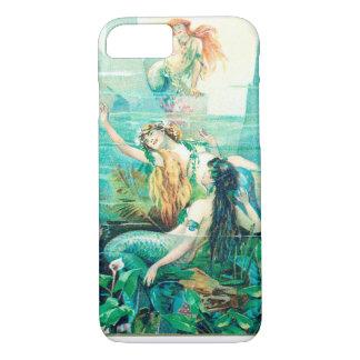 Capa iPhone 8/7 Caso do iPhone 6 do telemóvel com cena da sereia