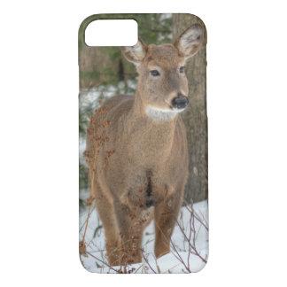 Capa iPhone 8/7 caso do iPhone 7 - cervos atados branco