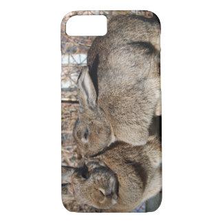 Capa iPhone 8/7 caso do iPhone 7 com os coelhos que smooching