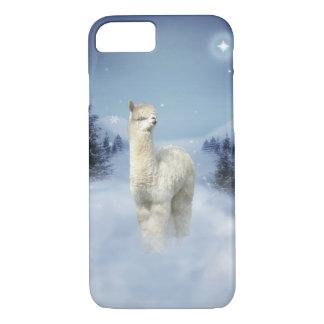 Capa iPhone 8/7 Caso do iPhone 7 da alpaca da noite do inverno