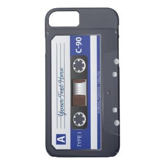 Capa iPhone 8/7 Caso do iPhone 7 da cassete de banda magnética