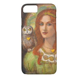 Capa iPhone 8/7 Caso do iPhone 7 da deusa Athena e da coruja