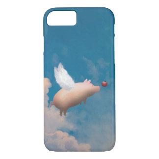 Capa iPhone 8/7 caso do iPhone 7 do porco do vôo