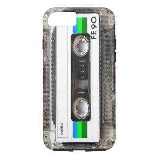 Capa iPhone 8/7 Caso do iPhone 7 do verde da cassete de banda