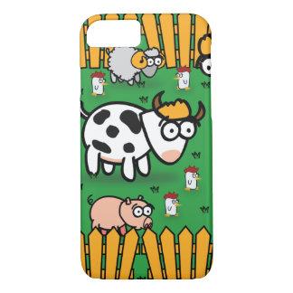 Capa iPhone 8/7 caso do iPhone 7 na fazenda animal engraçada