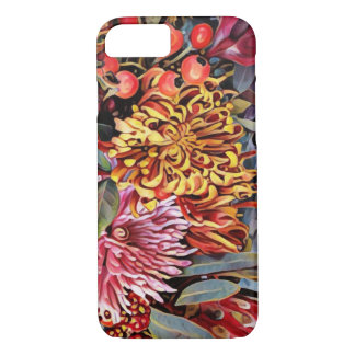 Capa iPhone 8/7 Caso floral do iPhone 7 do crisântemo do feriado