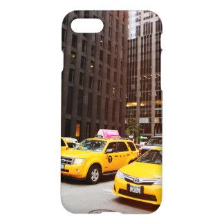 Capa iPhone 8/7 Caso lustroso do revestimento do iPhone 7 do táxi