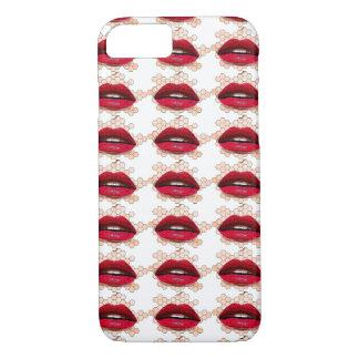 Capa iPhone 8/7 Caso vermelho de Iphone dos lábios