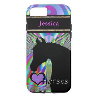 Capa iPhone 8/7 Cavalos do coração III customizável (Dreamz 5)